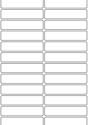 20mm x 90mm Inkjet & Laser Printer A4 Sticker Sheet Labels