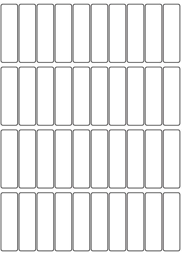 18mm x 63mm Inkjet & Laser Printer A4 Sticker Sheet Labels