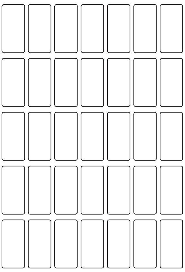 24mm x 51mm Inkjet & Laser Printer A4 Sticker Sheet Labels