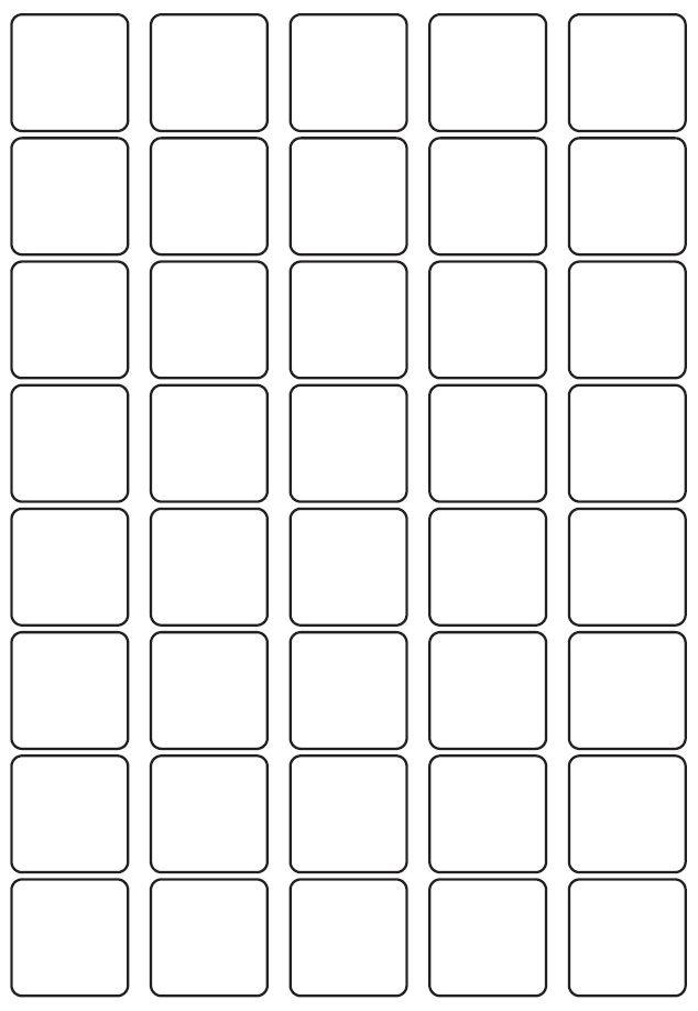 33mm Square Inkjet & Laser Printer A4 Sticker Sheet Labels