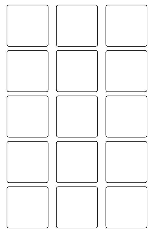 50mm Square Inkjet & Laser Printer A4 Sticker Sheet Labels