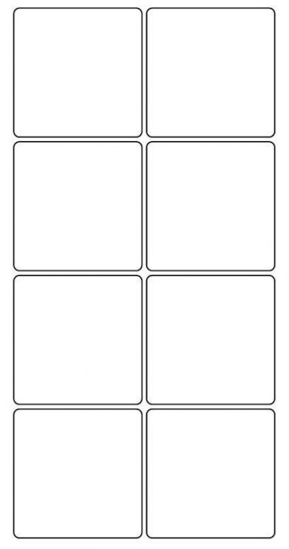68mm square Inkjet & Laser Printer A4 Sticker Sheet Labels