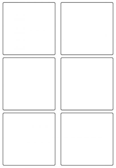 90mm Square Inkjet & Laser Printer A4 Sticker Sheet Labels