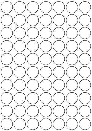 25mm Round Inkjet & Laser Printer A4 Sticker Sheet Labels