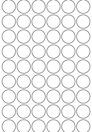 27mm Round Inkjet & Laser Printer A4 Sticker Sheet Labels