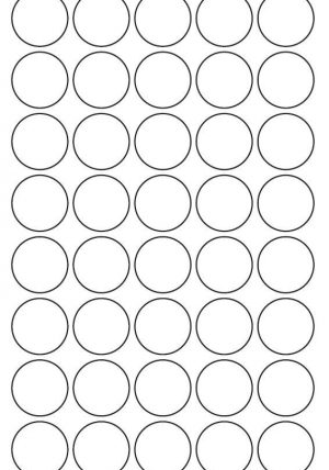 30mm Round Inkjet & Laser Printer A4 Sticker Sheet Labels