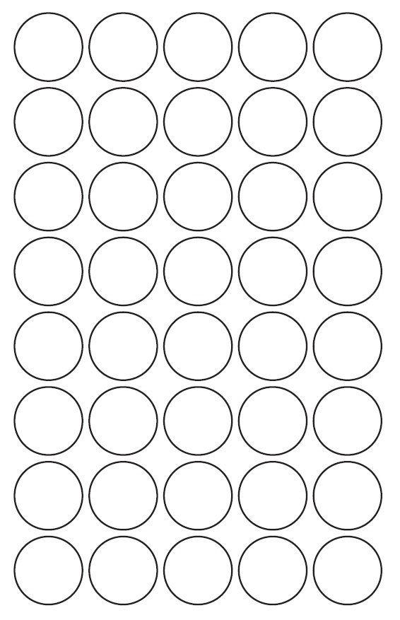 30mm Round Inkjet & Laser Printer A4 Sticker Sheet Labels