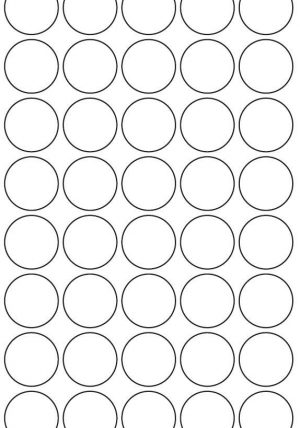 32mm Round Inkjet & Laser Printer A4 Sticker Sheet Labels