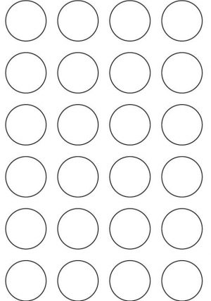 35mm Round Inkjet & Laser Printer A4 Sticker Sheet Labels