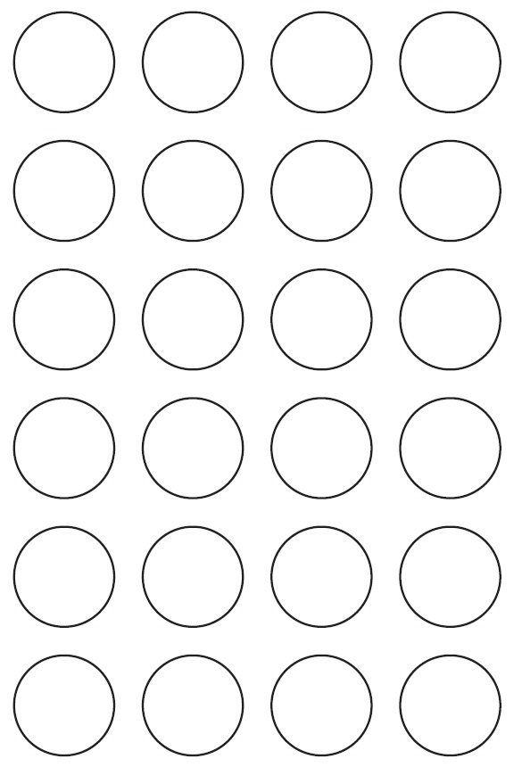 35mm Round Inkjet & Laser Printer A4 Sticker Sheet Labels