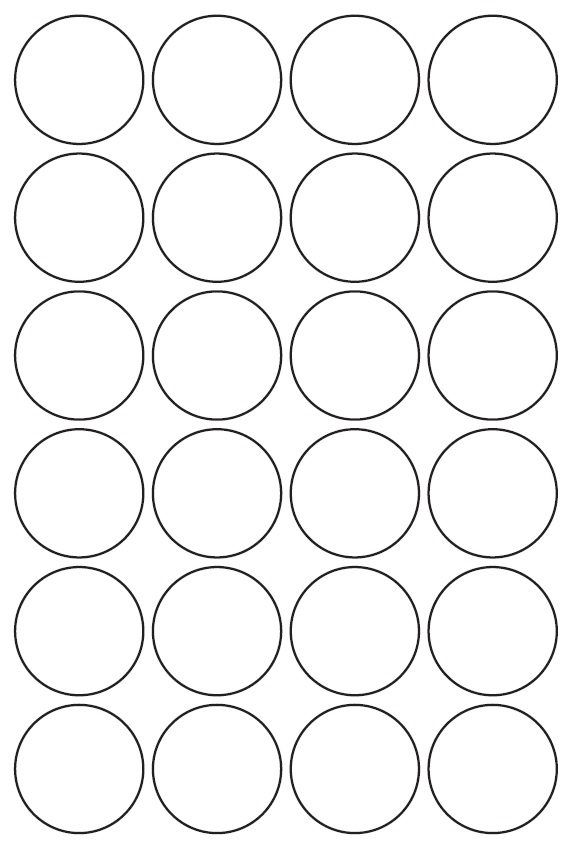 40mm Round Inkjet & Laser Printer A4 Sticker Sheet Labels