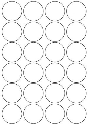 45mm Round Inkjet & Laser Printer A4 Sticker Sheet Labels