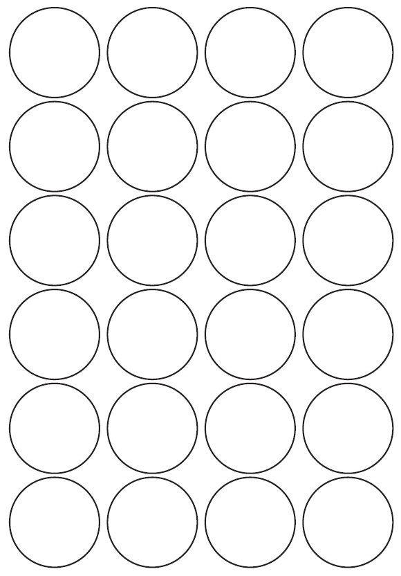 45mm Round Inkjet & Laser Printer A4 Sticker Sheet Labels