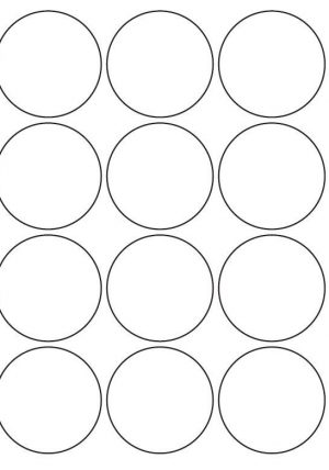 55mm Round Inkjet & Laser Printer A4 Sticker Sheet Labels