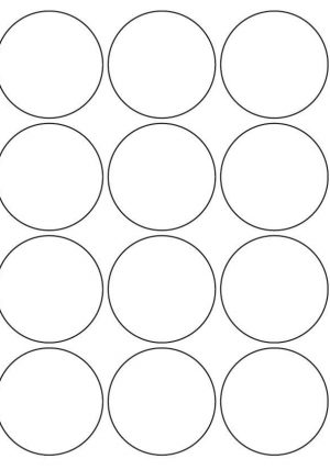 60mm Round Inkjet & Laser Printer A4 Sticker Sheet Labels