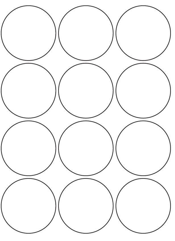 60mm Round Inkjet & Laser Printer A4 Sticker Sheet Labels