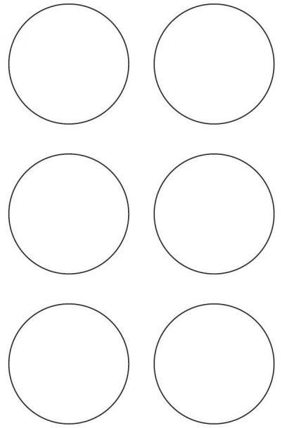80mm Round Circle Inkjet & Laser Printer A4 Sticker Sheet Labels