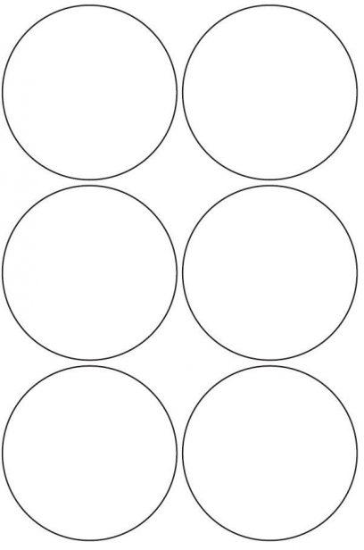 90mm Round Circle Inkjet & Laser Printer A4 Sticker Sheet Labels