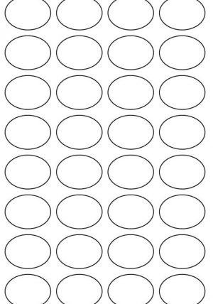29mm x 39mm Oval Inkjet & Laser Printer A4 Sticker Sheet Labels
