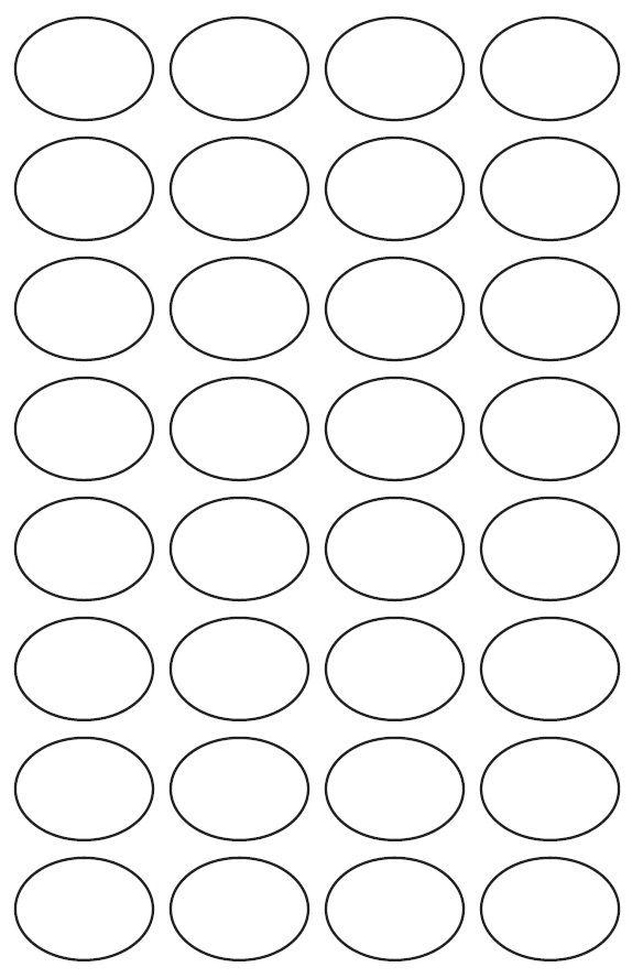 29mm x 39mm Oval Inkjet & Laser Printer A4 Sticker Sheet Labels