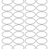 25mm x 45mm Oval Inkjet & Laser Printer A4 Sticker Sheet Labels