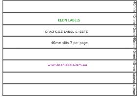SRA3 Label sheets seven slits