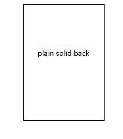 PLAIN SOLID BACK SB