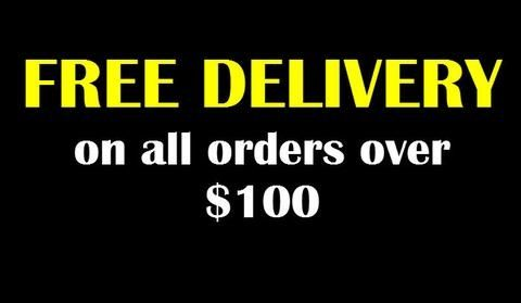 Free delivery for all orders over $100