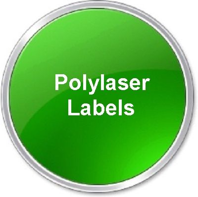 Polylaser labels green_round_button