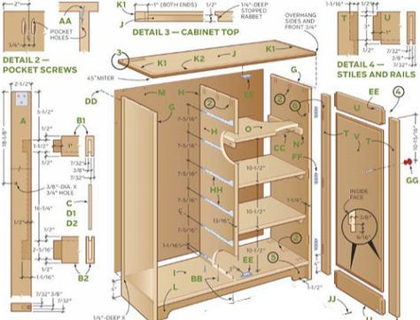 cabinet exploded diagram