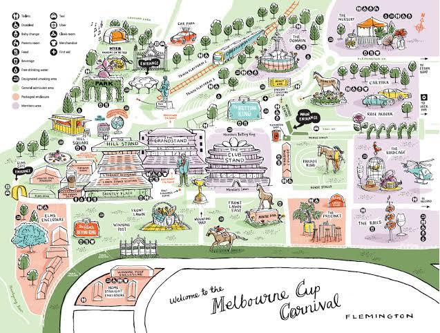 Map of Flemington racecourse